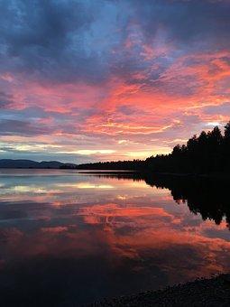 Nature, Beauty, Sunset, Water, Forest, Novel, Summer