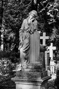 Bonn, Old Cemetery, Tombstone, Statue, Burial Ground
