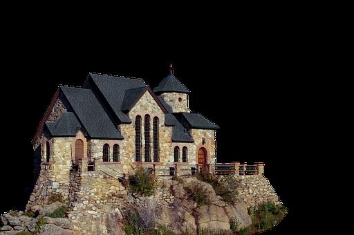 Church, Rock, Isolated, Mountain, Chapel, Church Window