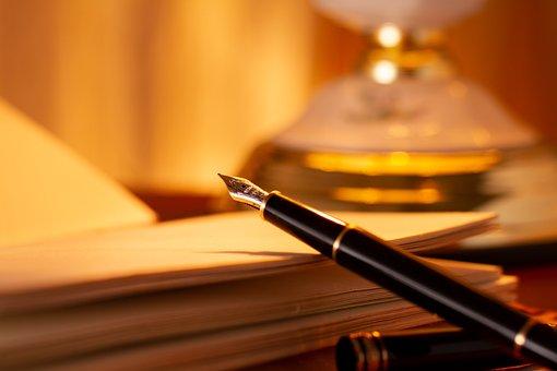 Notes, Write, Fountain Pen, Filler, Workplace, Desk