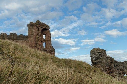 Tantallon Castle, Scotland, Castle, Fortress, Coast