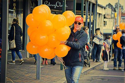 Parade, Gala, Balloons