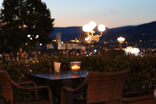 Sunset, Holiday, Vacation, View, Romantic, Table