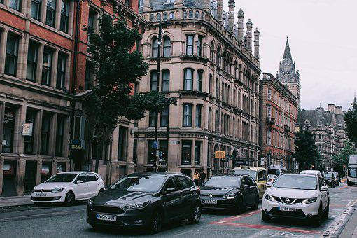 Cars, Building, City, Street, The Car, In The City