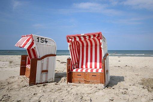 Amrum, Beach, Kniepsand, Beach Chair, Sand Beach, Sea