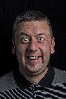 Men's, Grin, Character, Facial, Portrait, Funny, Eyes
