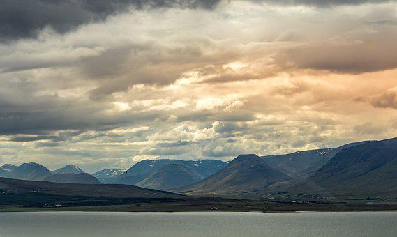 Iceland, Sky, Landscape, Clouds, Nature, Water