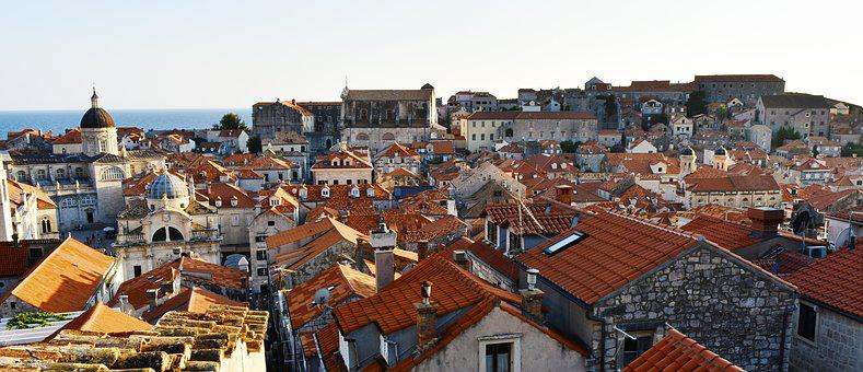 Roofs, Red Roof, Stony Houses, Old Town, Panorama