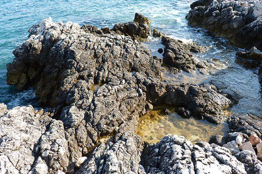 Sea, Rocks, Beach, Nature, Stones, Blue, Gray, Sight