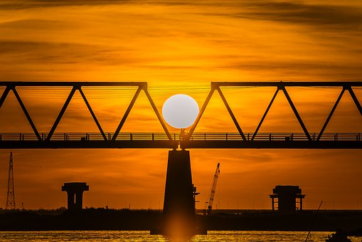 Brigde, Sun, Black, Lonely, Ball, I, Sad