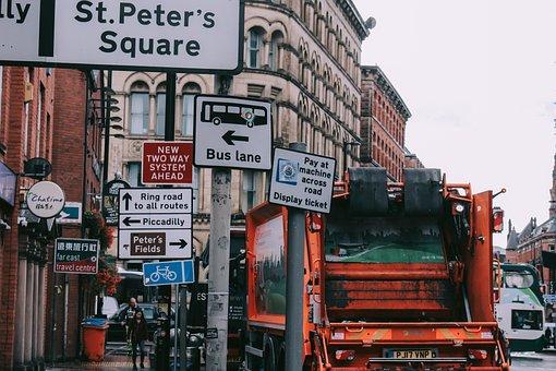 Car, Building, Signs, Street, City, The Car