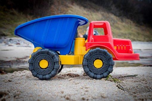 Dumper, Toys, Plastic, Tipper, Colorful, Sand, Vehicle