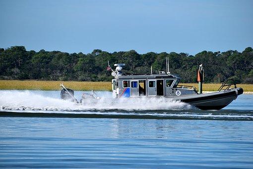 Homeland Security, Boat, Border Patrol, Sea, Vessel