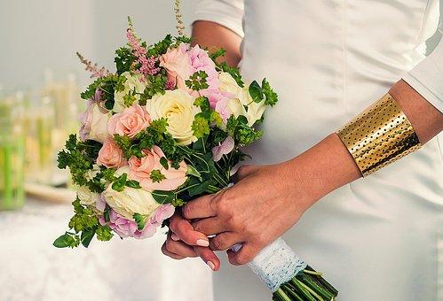 Bride, Bouquet, Wedding, Love, Flowers, Flower, Woman