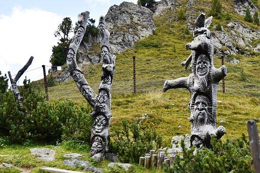 Austria, Wooden Sculptures, Carving, Trekking