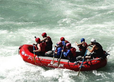 Raft, Whitewater Raft, Boat, Teamwork, Adventure