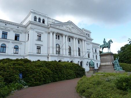 Hamburg, Altona, Town Hall, Facade, Frieze, Relief