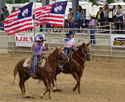 Rodeo, Horses, Flag, Usa, America, Jeans, Country