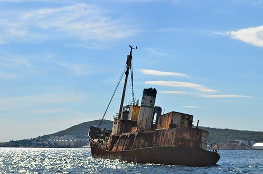 Boat, Ship, Rust, Shipwreck, Pirate, Asylum Seeker