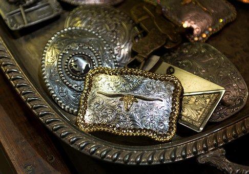 Belts, Carol M Highsmith, Belt Buckles, Metal, Buckle