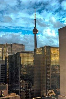Toronto, Canada, Cn Tower, Skyline, Tower, Ontario