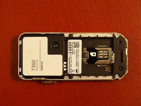 Cell Phone, Nokia, Screwed Up, Support Sim, Label