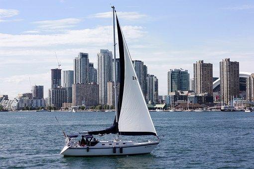 Canada, Toronto, City, Ocean City, Times, Yacht, Boat