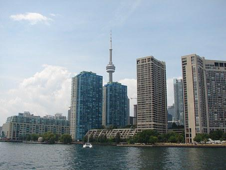 Toronto, Down, Town, Downtown, City