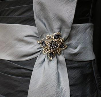 Bow, Bauble, Beading, Satin, Fashion, Couture