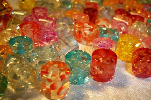 Beads, Multicolored Beads, Multicolored, Craft, Jewelry