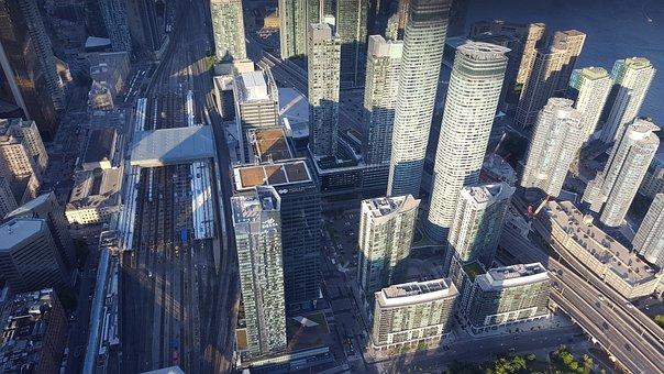 City, Toronto, Canada, Downtown, Skyline, Ontario, Sky