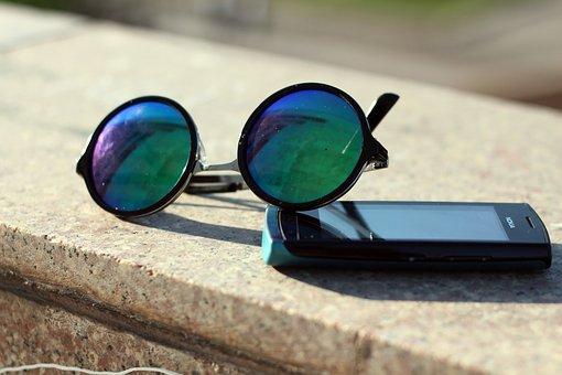 Eyewear, Sunglasses, Retro, Smartphone, Nokia, Lens
