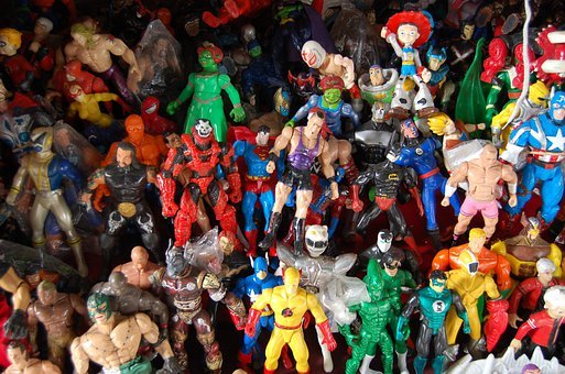 Used Toys, Plastic, Flea Market, Antique, Figures