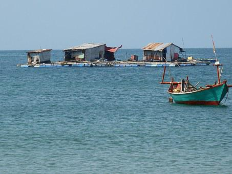 Fisherman, Sea, Boats, Fishing, Fishing Boat, Vietnam