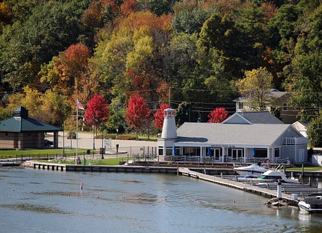 Appleton Wi, Autumn, Yacht Club, Fox River, Color