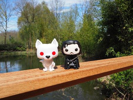 Game Of Thrones, Jon Snow, Ghost, Funko Pop