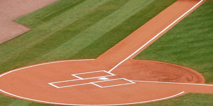 Baseball, Home Plate, Grass, Game, Field, Ball, Sport
