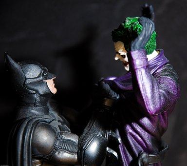 Batman, Joker, Cartoon, Figurine, People, Character