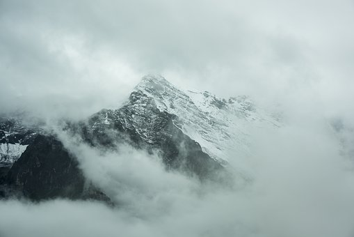 Mountain Top, Landscape, Misty, Foggy, Nature, Peak
