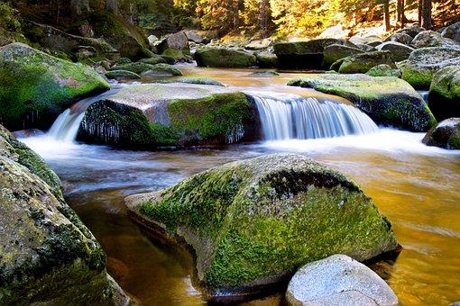 Water, Nature, Rocks, Stream, Stone, Landscape, Travel