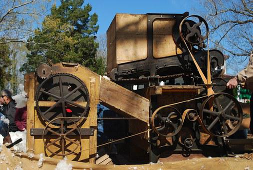 Cotton Gin, Cotton, Machine, Agriculture, Gin, Seed