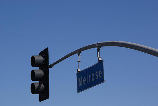 Hollywood, Beverly Hills, Melrose Drive, Traffic Signal