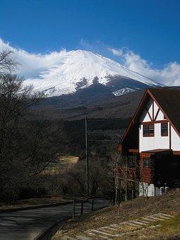 Mt Fuji, Villa, Mountain Hut, Winter, Snow, Blue Sky