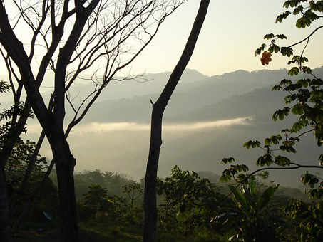 Costa Rica, Mountain View, Dawn, Landscape, Scenic