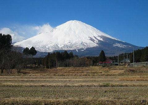 Mt Fuji, Gotemba, Countryside, Rice, Winter