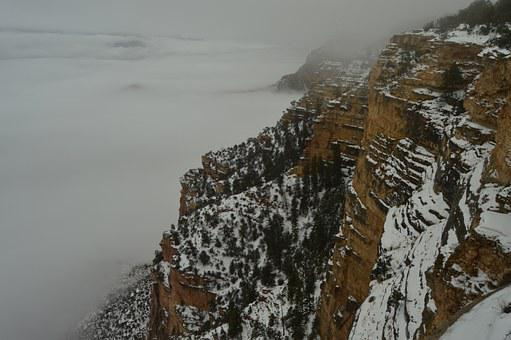 Grand Canyon, America, Cloud, Fog, Nature, Misty