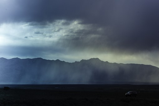Road Trip, Storm, Sky, Nature, Highway, Journey