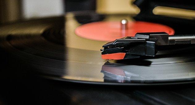 Vinyl, Turntable, Music, Black, Needle, Play, Sound