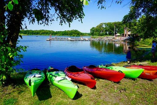 Kayak, Boat, Lake, Water, Sport, Paddle, Park