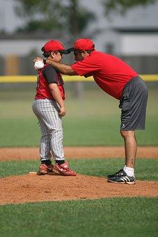 Baseball, Little League, Pitcher, Pitching Mound, Coach